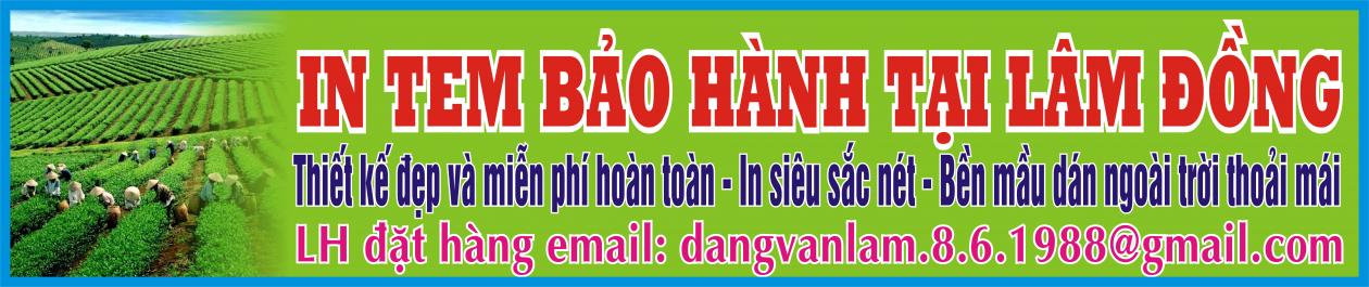 In tem bảo hành tại Lâm Đồng
